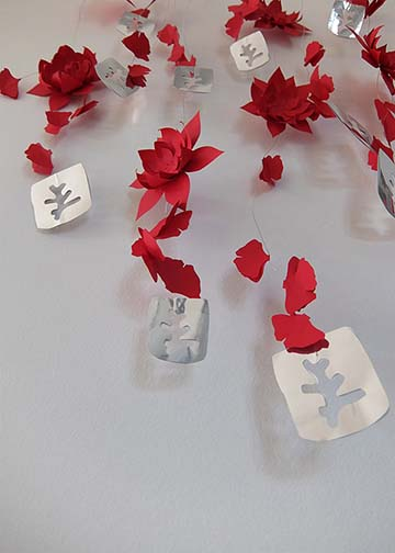 Erborian – Marjorie Colas – creation papier – decoration