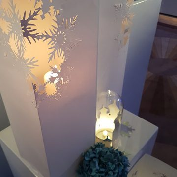 photophores en papier pour la décoration de la soirée ELLE