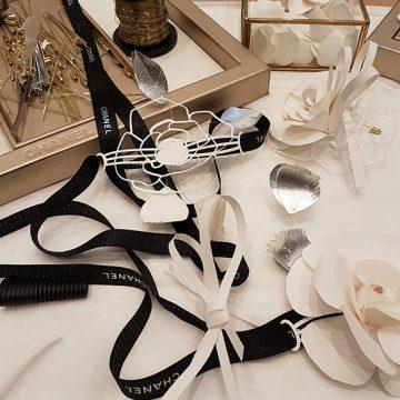 bijoux en papier pour la maison chanel