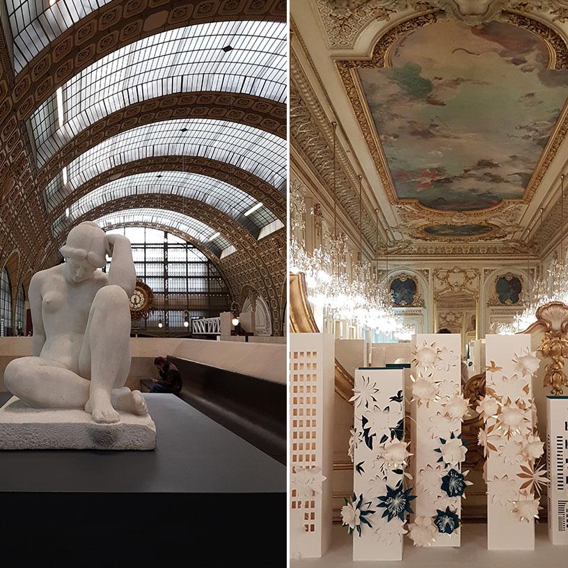 décoration en papier marjorie colas au musée d'Orsay