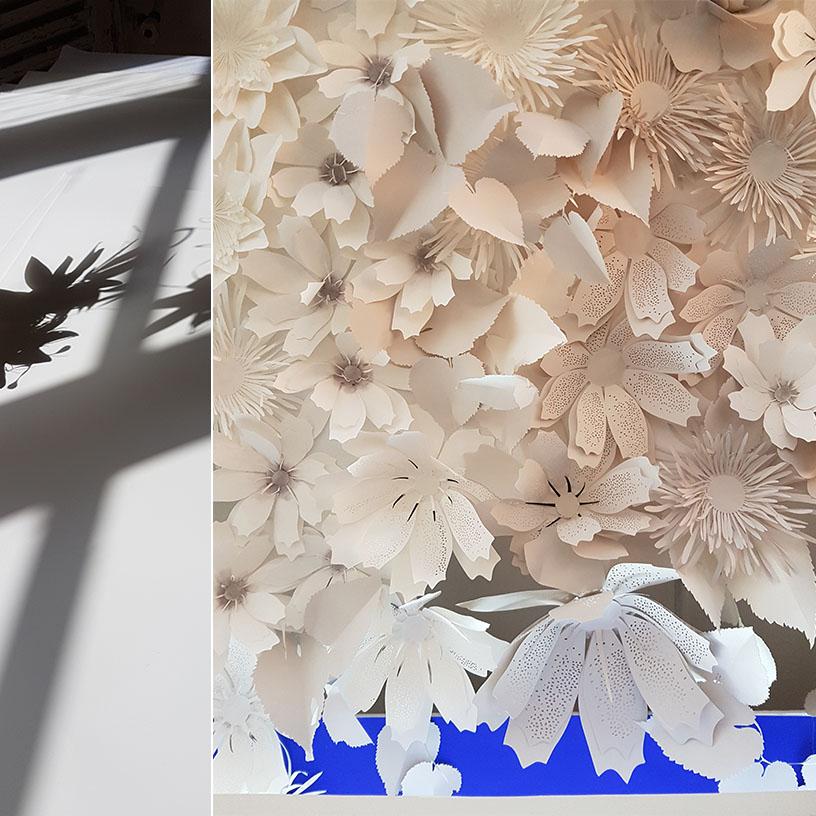 fleur papier pour la soirée Sofitel paris